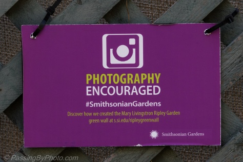 Smithsonian Gardens Photography Encouraged