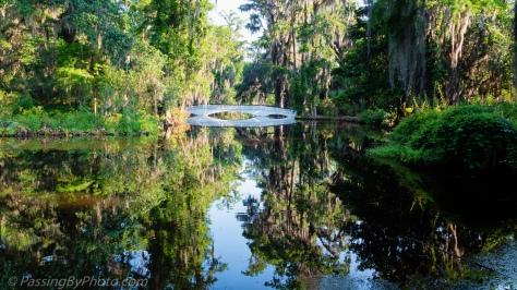 Long White Bridge at Magnolia Plantation and Gardens