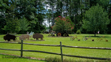 Bike-a-mowers, Tractor and Bison