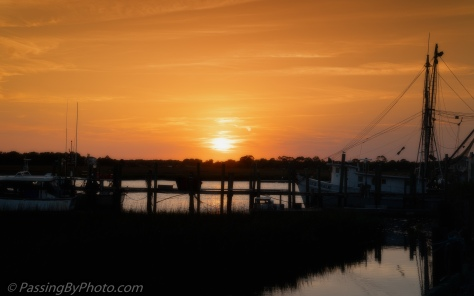 Sunset Behind Dock