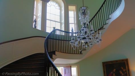 Joseph Manigault House Chandelier in Front Stairwell
